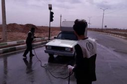 ضد عفونی اتومبیل ها برای پیشگیری از شیوع کرونا+تصاویر