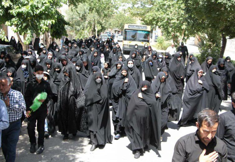 شهر دولت آباد در سوگ امام صادق ع گریست + تصاویر