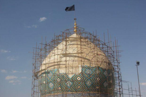 آغاز پروژه بازسازی گنبد آستان مقدس امامزاده نرمئ