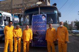 مراسم استقبال از کاروان نمادین آزادگان شهرستان برگزار شد تصاویر