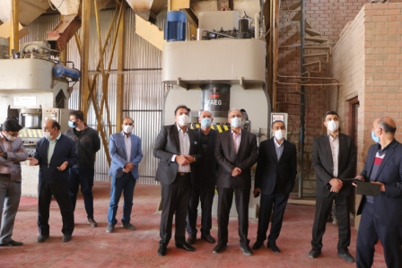 افتتاح یک واحد تولید آجر با حضور معاون هماهنگی امور اقتصادی استانداری