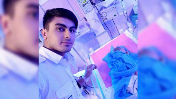 به دنیا آمدن نوزاد عجول در دستان سفید پوشان اورژانس برخوار