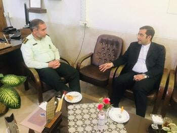 دیدار ملک پور با فرمانده انتظامی شهرستان برخوار